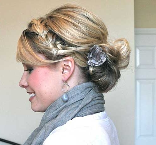 Best Hair Updos For Medium Length Hair | Hairstyles & Haircuts 2016 Pertaining To Best And Newest Updo Hairstyles With Bangs For Medium Length Hair (View 2 of 15)