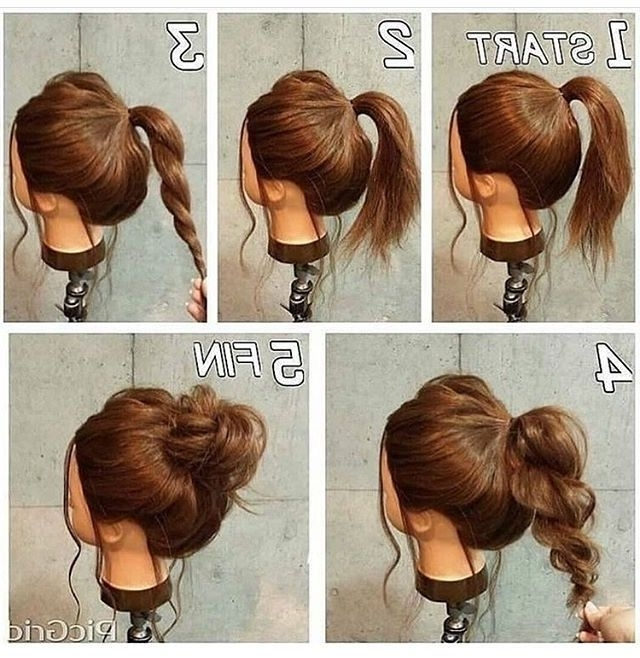 Best Hairstyle For Wavy Hair Female | Messy Buns, Hair Style And Make Up Throughout Current Easy Updos For Wavy Hair (View 4 of 15)
