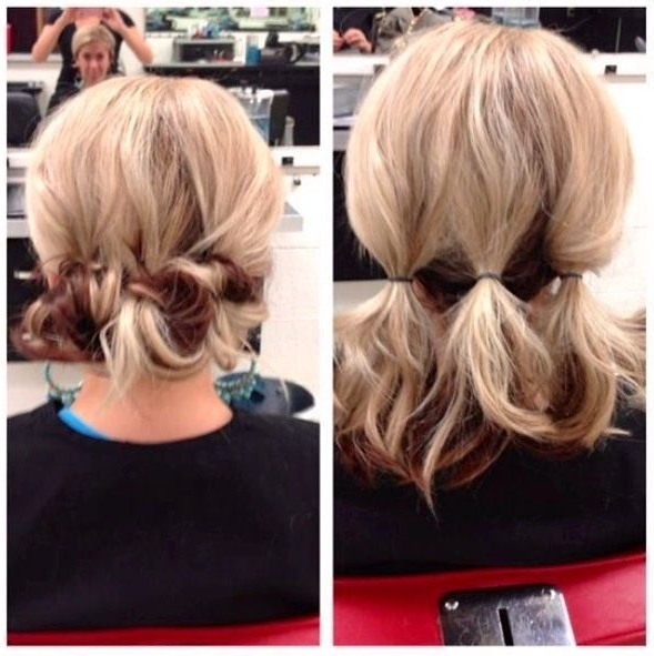 15 Best Collection Of Quick Easy Updo Hairstyles For Short Hair