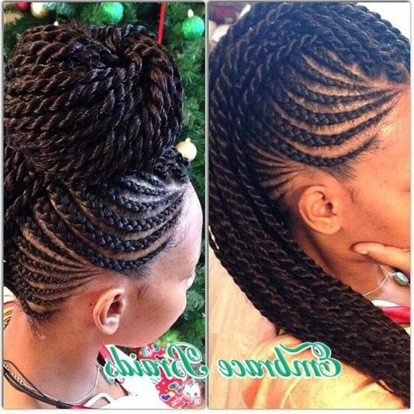Showing Photos Of Braided Updo Hairstyles For Black Hair View 3 Of