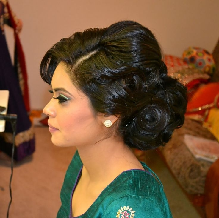 Best Updo For Indian Wedding – Google Search | Hair & Makeup 411 With 2018 Indian Wedding Updo Hairstyles (View 2 of 15)