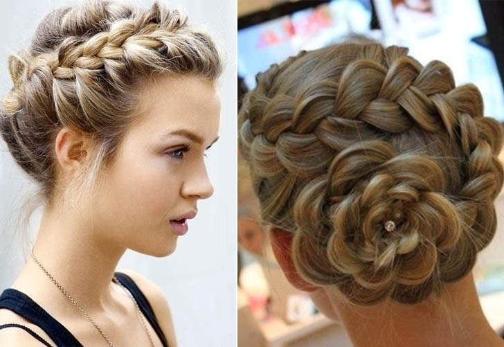 Big Braided Bun Hairstyles Updo | Medium Hair Styles Ideas – 29245 Regarding Most Recently Braids Updo Hairstyles (View 6 of 15)