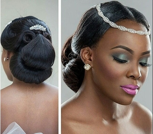 Black Bridal Hairstyles For Long Hair | African American Hairstyles With Regard To Most Current Black Hair Updos For Weddings (View 12 of 15)