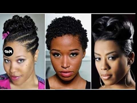 Black Girl Updo Hairstyles – Youtube Throughout Latest Black Girl Updo Hairstyles (View 8 of 15)