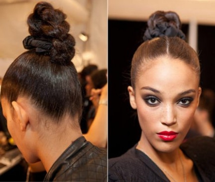 Black Hair Bun Styles 25 Updo Hairstyles For Black Women|Black Hair Within Latest Hair Updos For Black Women (View 6 of 15)