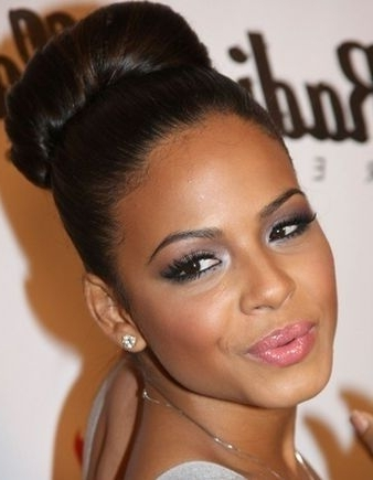 Black Hair Bun Styles 92 Best Flawless Hair Buns Updos Images On In 2018 Hair Updos For Black Women (View 7 of 15)