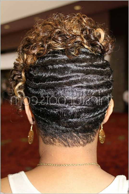 Black Hair Finger Waves Hairstyles Within 2018 Finger Waves Long Hair Updo Hairstyles (View 6 of 15)