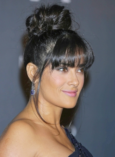 Black Hairstyles With Bangs – Beauty Riot Pertaining To Most Recent Updo Hairstyles With Bangs For Black Hair (View 10 of 15)