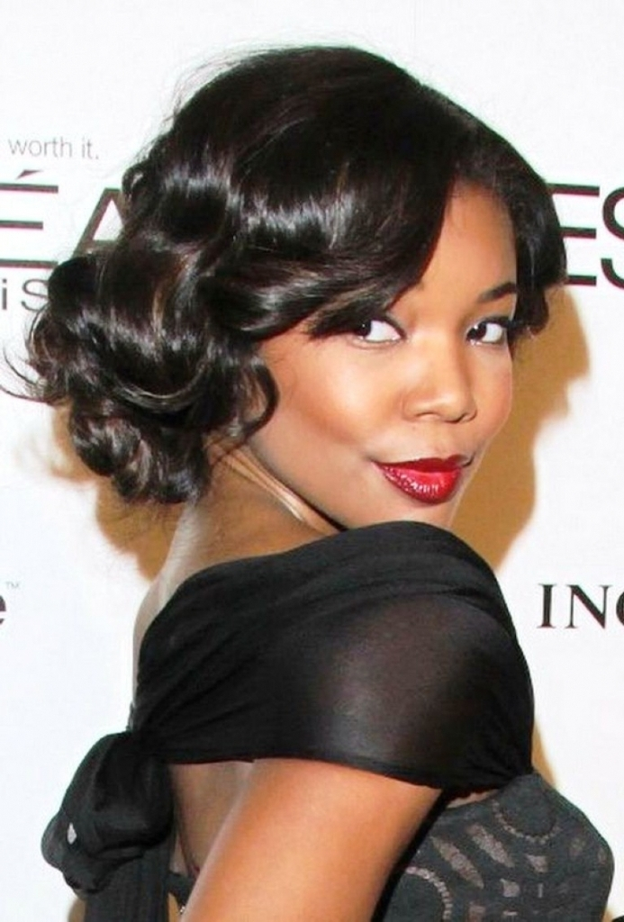 Black Weave Updo Hairstyles – Glamour Women Hairstyle In Latest Updo Hairstyles With Weave (View 9 of 15)