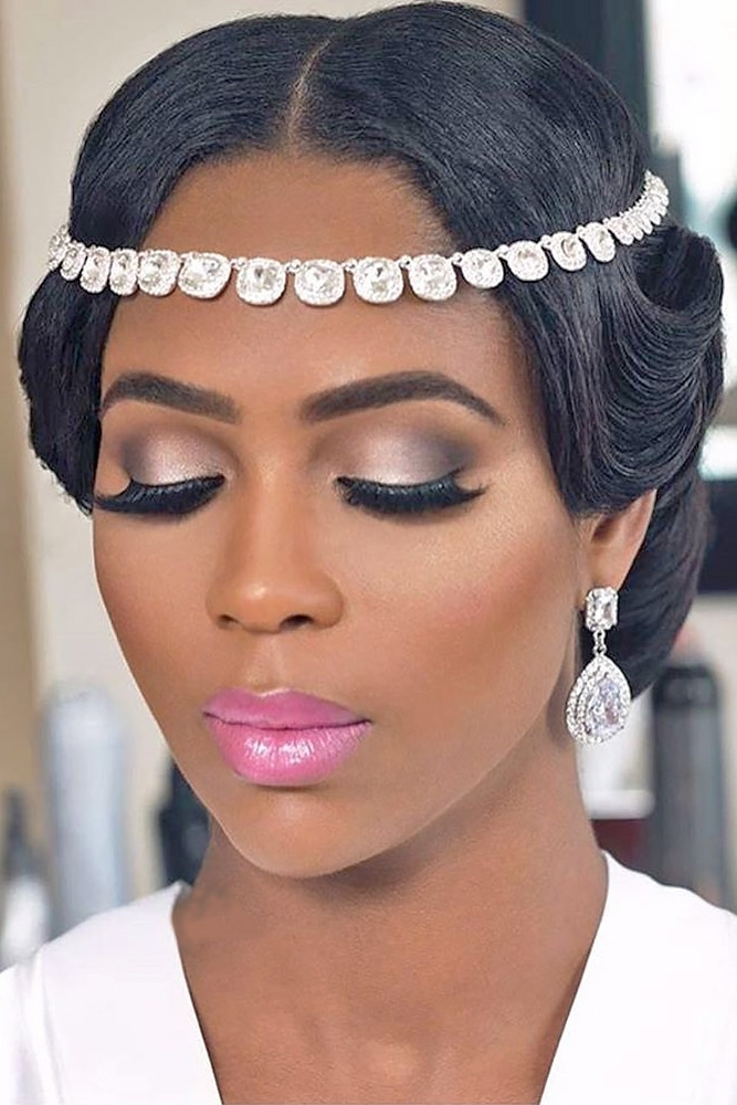 Black Wedding Updo Hairstyles For Long Hair – Black Bridal Inside Newest Black Bride Updo Hairstyles (View 7 of 15)