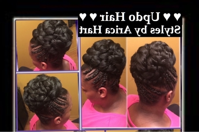 Blog Of Trendy Stuffed Twist And Updo Hair Stylesarica Hart W For Newest Updo Hairstyles With Braiding Hair (View 10 of 15)