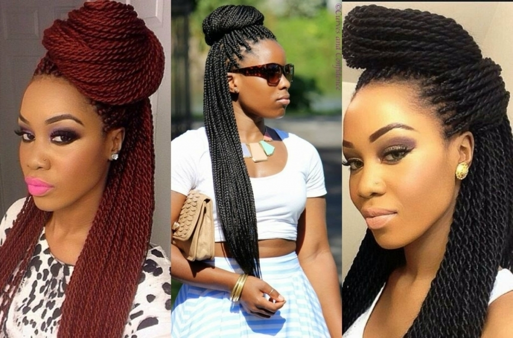 Box Braid Updo Hairstyle – Popular Long Hairstyle Idea With Regard To Most Recently Box Braids Updo Hairstyles (View 13 of 15)