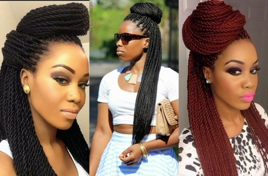Box Braids Updo Hairstyles Box Braids Bun Hairstyles You Will In With Regard To Most Recent Box Braids Updo Hairstyles (View 8 of 15)
