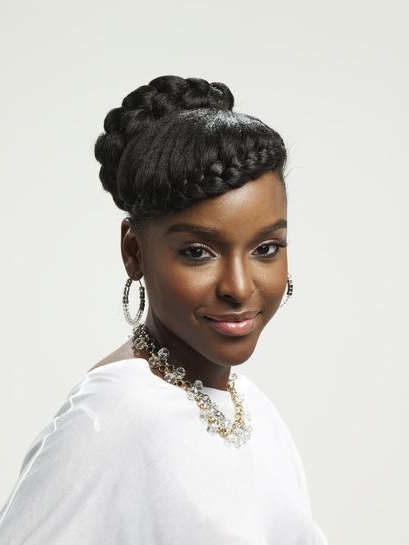 Braid Across The Forehead And Updo | Hair Styles | Pinterest | Updo Inside Most Recently Updo Hairstyles For Natural Hair African American (View 10 of 15)