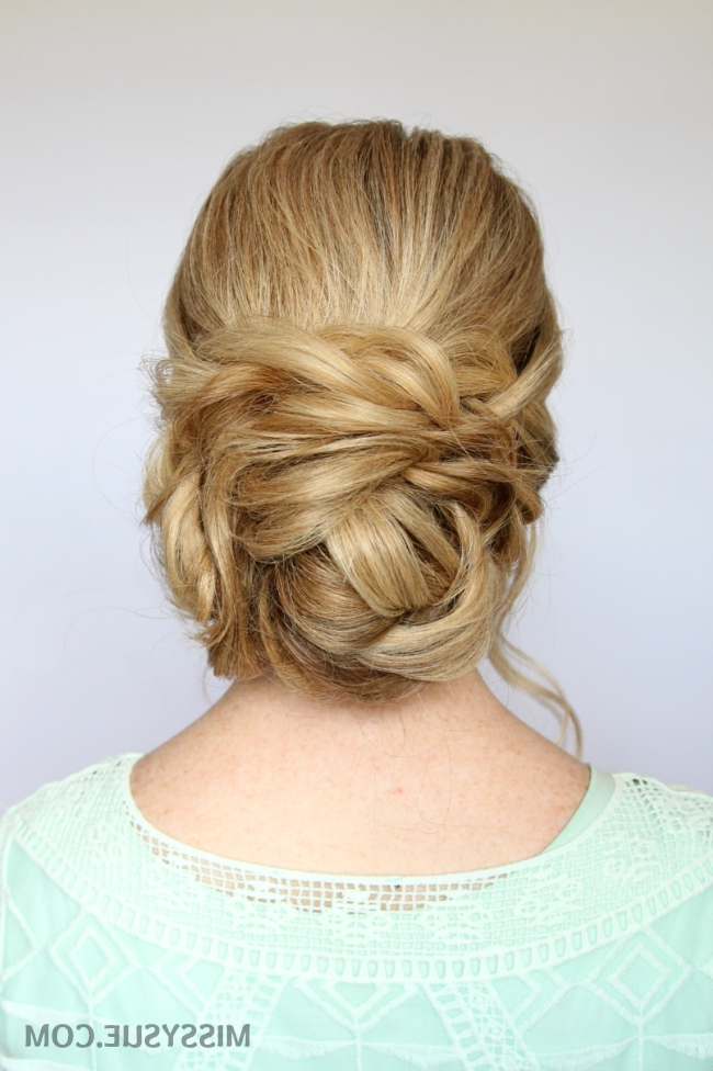 Braid And Low Bun Updo | Missy Sue Pertaining To Best And Newest Updo Low Bun Hairstyles (View 7 of 15)