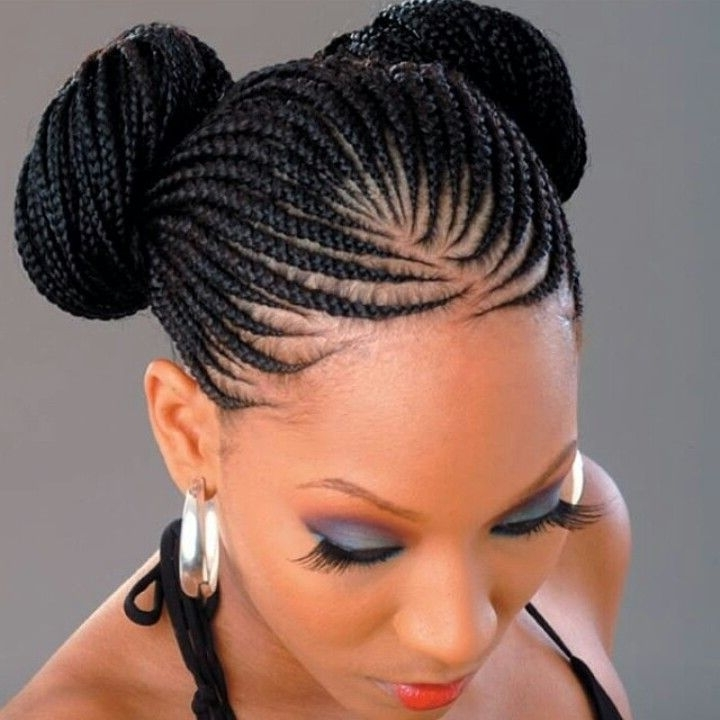 Braid Bun Hairstyle | Fashion Police Hairstyles | Pinterest Intended For Most Up To Date African Braid Updo Hairstyles (View 6 of 15)