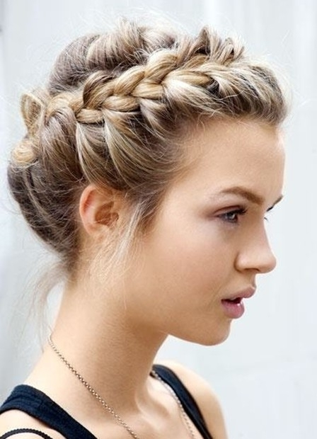 Braid Updo Hairstyles – Popular Haircuts In Recent Braided Updo Hairstyles (View 12 of 15)