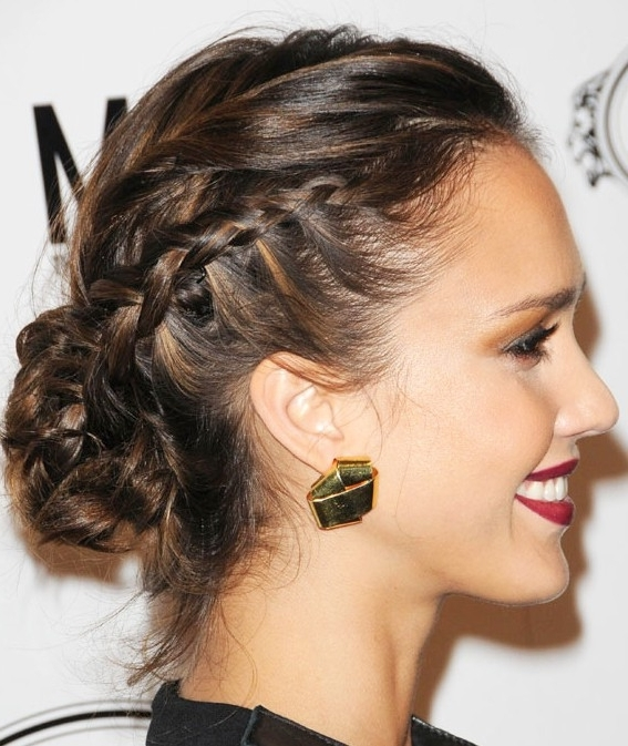 Braided Bun Updo Hairstyle – Hairstyles Weekly For Most Recent Updos Buns Hairstyles (View 2 of 15)