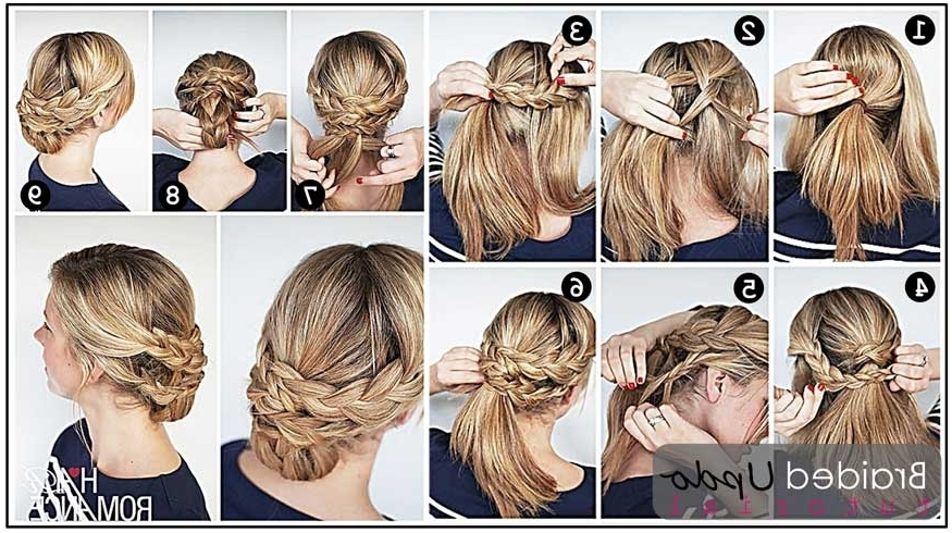 Braided Chignon Tutorial | Medium Hair Styles Ideas – 7249 Intended For Most Recent Chignon Updo Hairstyles (View 6 of 15)