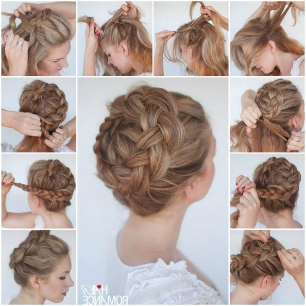 Braided Crown Hairstyle Tutorials | Fashion | My Style | Pinterest Throughout Newest Braided Crown Updo Hairstyles (View 6 of 15)
