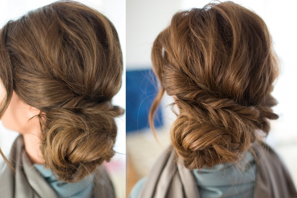 Braided Side Updo – Popular Long Hairstyle Idea Within Most Current Hair Extensions Updo Hairstyles (View 12 of 15)