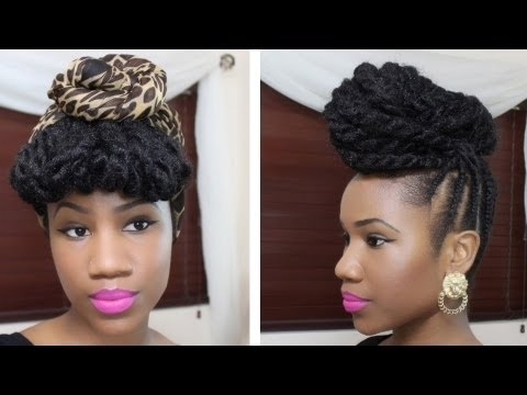 Braided Updo Hairstyle On Natural Hair – Youtube For Latest Braided Hair Updo Hairstyles (View 13 of 15)