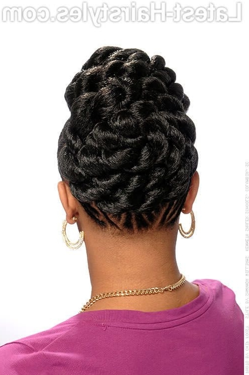 Braided Updo Hairstyle With Pizzazz Back View | Braids | Pinterest Intended For Newest Goddess Updo Hairstyles (View 7 of 15)