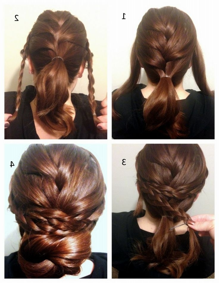 Braided Updo Hairstyles Intended For Recent Easy Braid Updo Hairstyles (View 12 of 15)