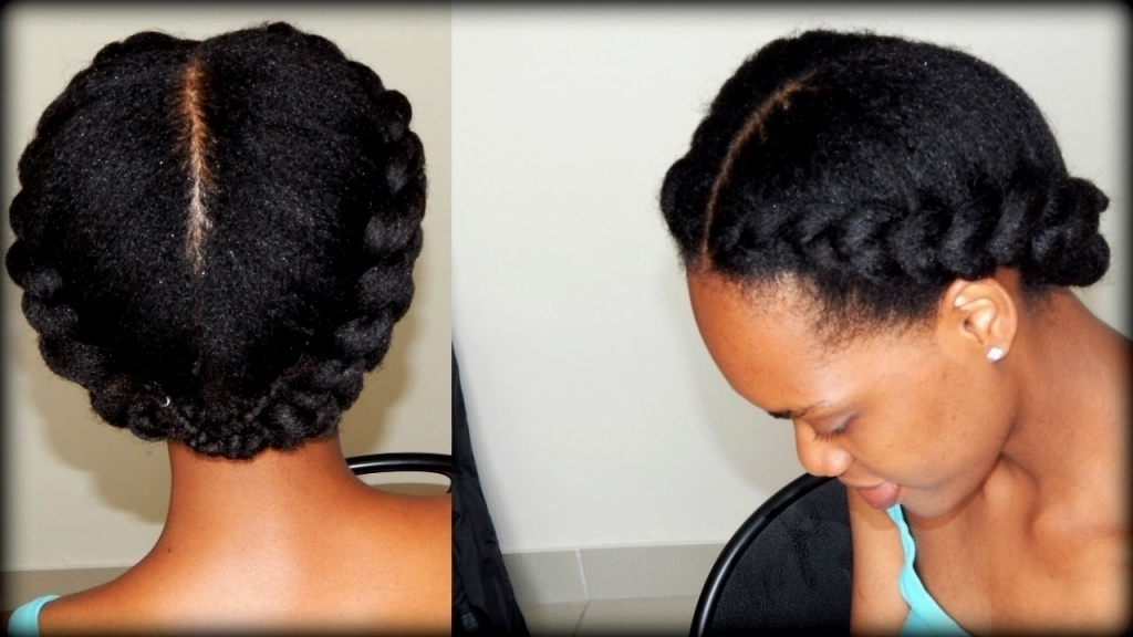 Braided Updo Natural Hairstyles Natural Hair Styles Braids Cornrows With Regard To Newest Braided Updo Hairstyles For Natural Hair (View 13 of 15)