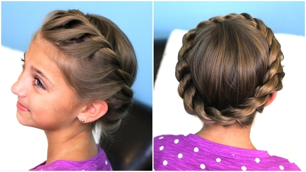 Braided Updo Styles Crown Rope Twist Braid Updo Hairstyles Cute With Latest Cool Updo Hairstyles (View 13 of 15)
