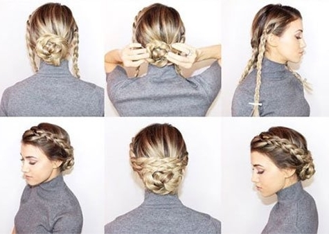 Braided Updos, Prom Hairstyles, Tutorials, Hacks Pertaining To Most Up To Date Easy Braid Updo Hairstyles (View 7 of 15)