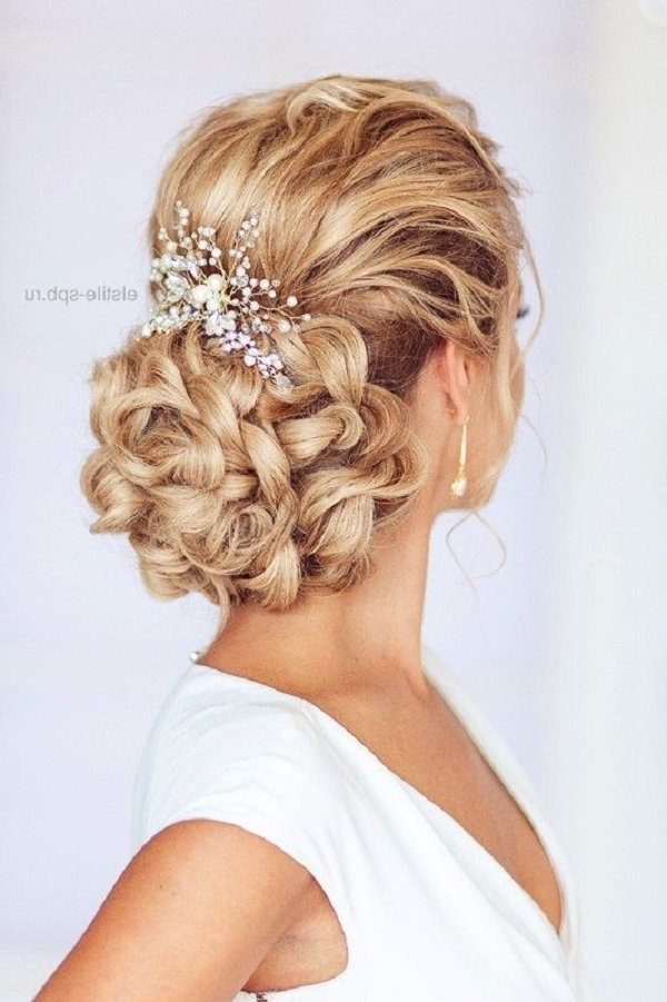 Braided Wedding Updo Hairstyle   Deer Pearl Flowers Intended For Newest Updo Hairstyles For Weddings (View 5 of 15)
