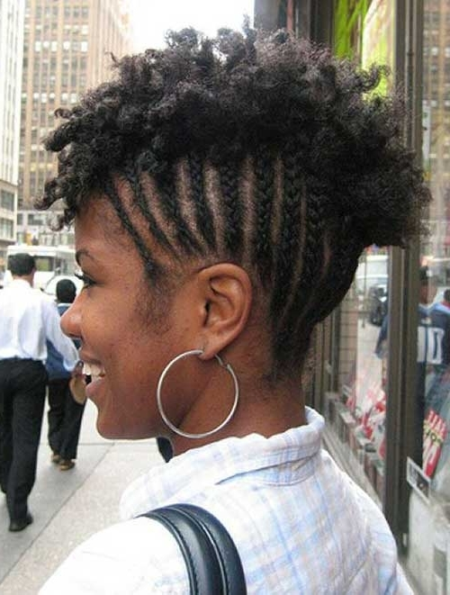 Braids For Black Women With Short Hair | Short Hairstyles 2017 Inside Most Recently Natural Hair Updos For Short Hair (View 8 of 15)