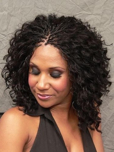 Breathtaking Medium Hairstyles For Black Women | Hairstyles 2017 Regarding Most Up To Date Curly Updos For Black Hair (View 8 of 15)