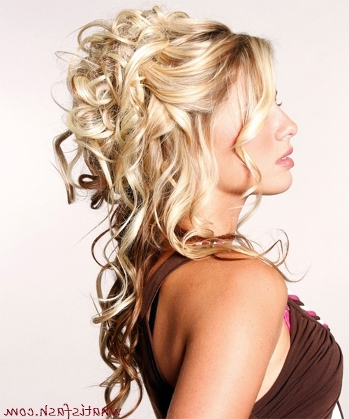 Bridal Hair Partial Updo – Google Search | Hairtstyles | Pinterest With Most Recently Partial Updo Hairstyles (View 7 of 15)