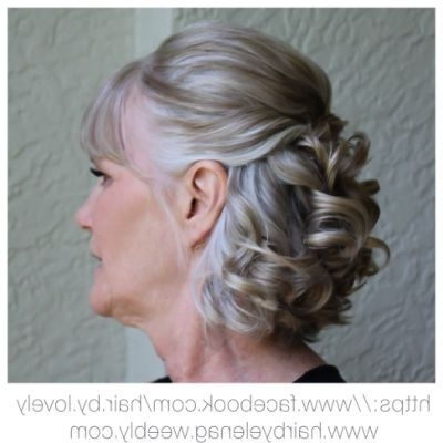 Bridal Hair, Wedding Hair, Mother | Wedding Hairstyles | Pinterest With Recent Mother Of The Bride Updo Hairstyles For Short Hair (View 3 of 15)