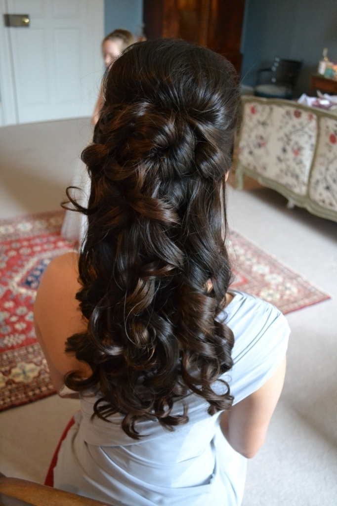 Bridal Half Updo Hairstyles Wedding Hairstyles Long Hair Half Up Intended For Best And Newest Long Hair Half Updo Hairstyles (View 14 of 15)