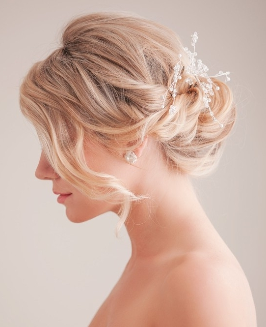 Bridal Updo Hairstyle Tutorial: Wedding Hairstyles Ideas – Popular With Most Recently Wispy Updo Hairstyles (View 10 of 15)