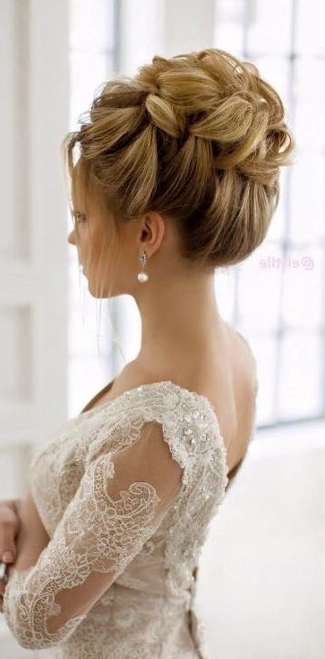 Bride Updo Hairstyles 15 Beautiful Wedding Updo Hairstyles Styles With Most Recently Bride Updo Hairstyles (View 7 of 15)