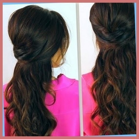 Bridesmaid Hair Tips With Partial Updo Hairstyles For Long Hair Within Newest Partial Updo Hairstyles (View 8 of 15)