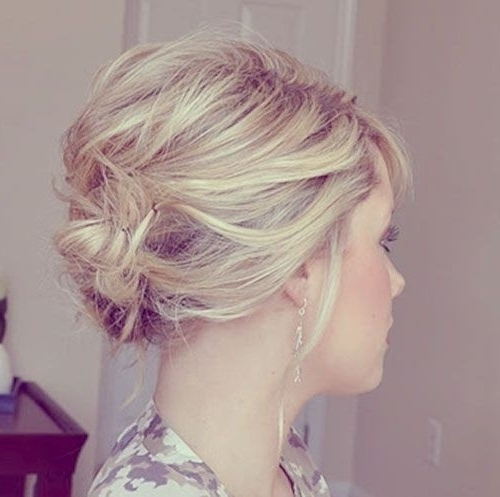 Bridesmaid Hairstyles For Short Hair – Popular Haircuts In Best And Newest Bridesmaid Hairstyles Updos For Short Hair (View 5 of 15)