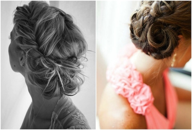 Bridesmaid Hairstyles Updo Percy Hmade Hair Updos For | Medium Hair Within Best And Newest Hairstyles For Bridesmaids Updos (View 8 of 15)