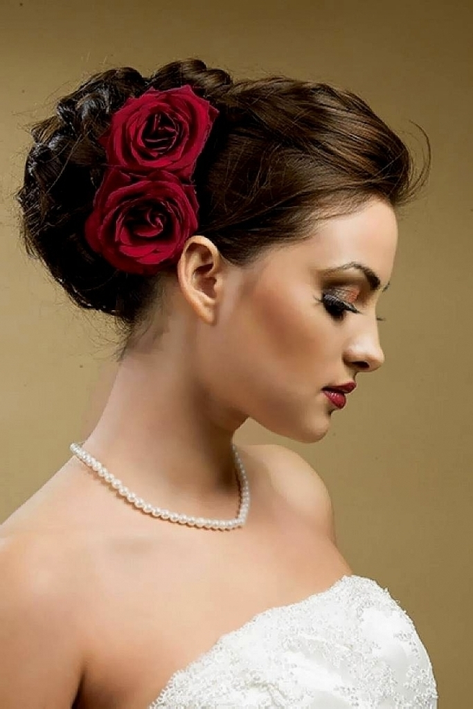 Bridesmaid Side Bun Hairstyle Bridal Side Swept Bun Updo Wedding Within Most Up To Date Bridal Bun Updo Hairstyles (View 8 of 15)