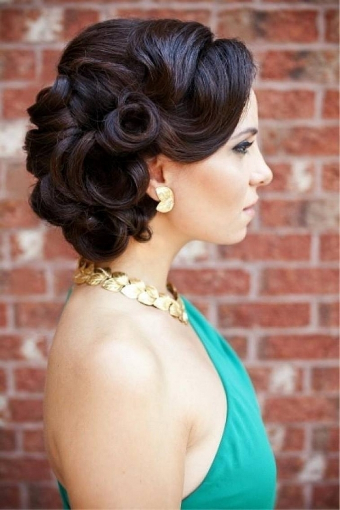 Bridesmaids Updo Hairstyle Bridesmaids Updo Hairstyles Black Hair Intended For Most Recent Updo Hairstyles For Black Bridesmaids (View 8 of 15)