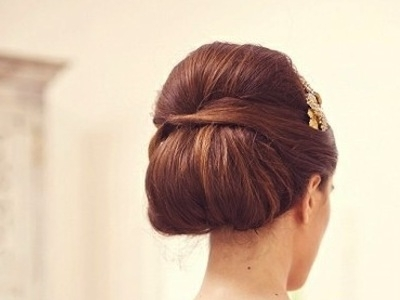 Brunette Bouffant Chignon Updo – Prom, Wedding, Party, Formal Intended For Most Popular Chignon Updo Hairstyles (View 7 of 15)