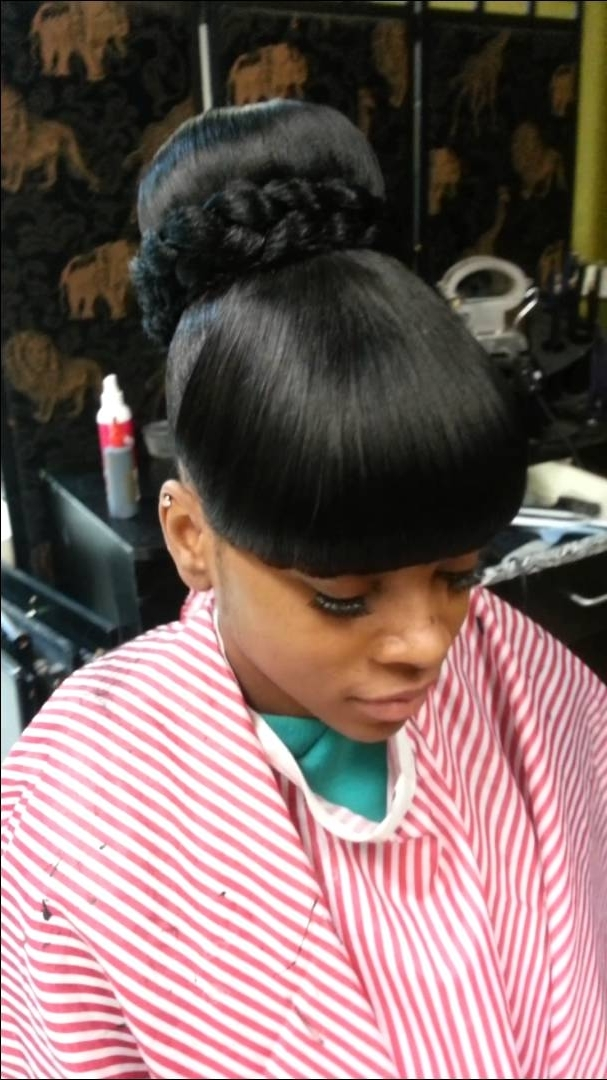 Bun &bang Bang Quick Weave – Youtube Regarding Current Quick Weave Updo Hairstyles (View 3 of 15)