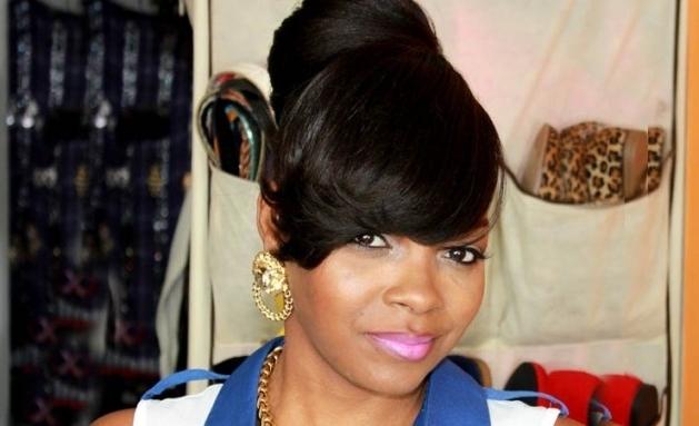 Bun Hairstyles For Black Hair With Bangs – Hairstyles For Best Updo For Latest Updo Hairstyles With Bangs For Black Hair (View 5 of 15)