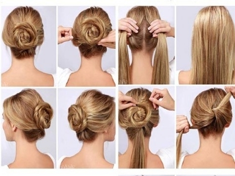 Bun Hairstyles For Long Thick Hair – Hairstyles For Updo Hairstyles Throughout Newest Hair Updo Hairstyles For Thick Hair (View 4 of 15)