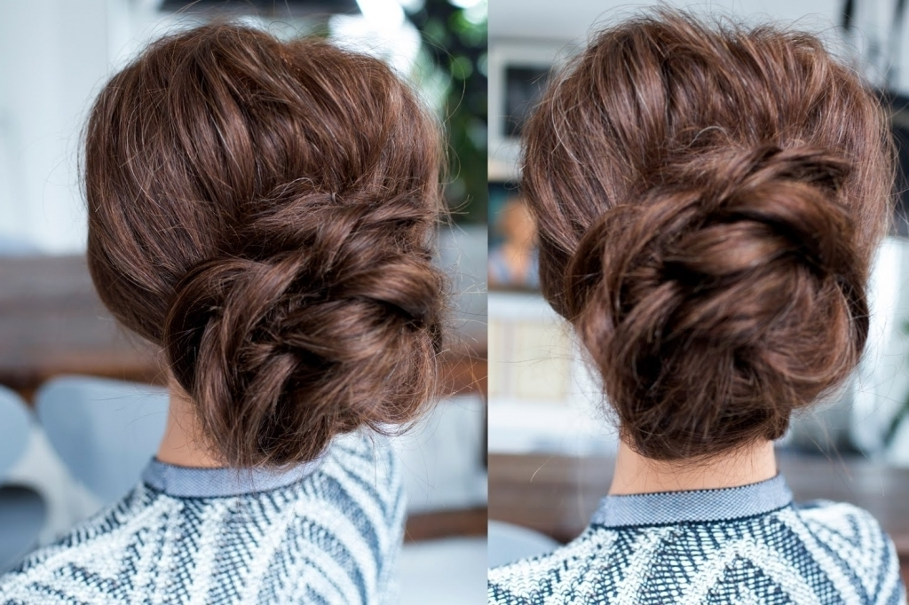 Bun Updo Hairstyles Low Bun Easy Updo Hairstyles For Long Hair With Recent Easy Low Bun Updo Hairstyles (View 8 of 15)