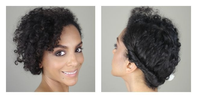 Casual Updo For Naturally Curly Hair – Melting Pot Beauty Intended For Recent Natural Curly Updo Hairstyles (View 14 of 15)